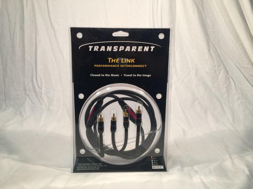 Transparent Audio The Link, RCA>RCA interconnect 1m