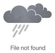 Кожаный блокнот А5 голубой с цветочками