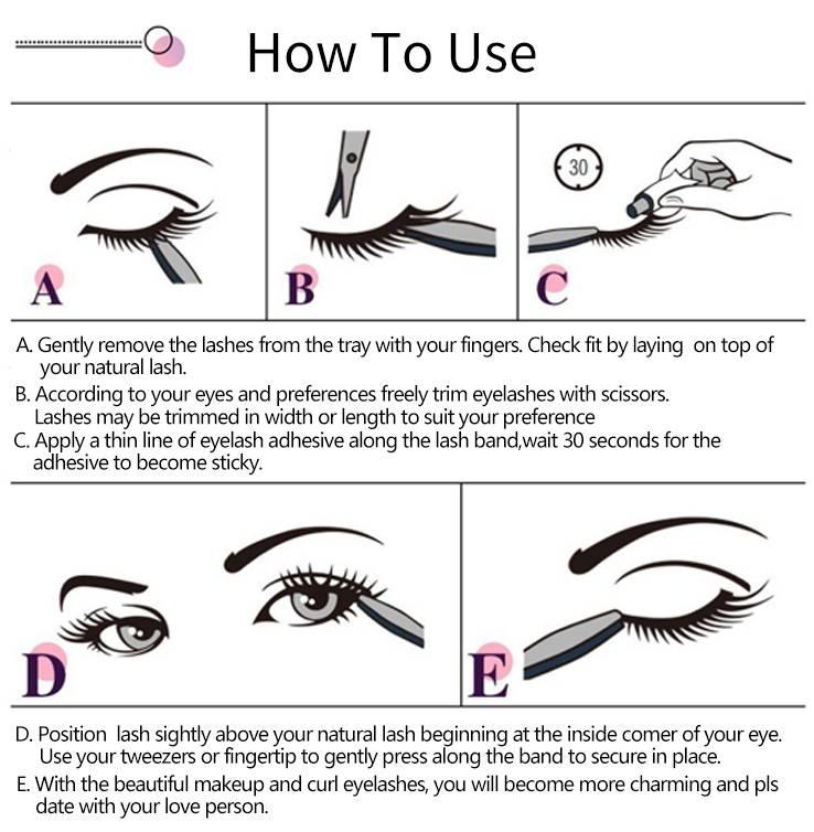 fb6fb0e7c7a 3D Mink Eyelash Natural Long Short Real Cheap Best Fake Lashes 3D-02 ...