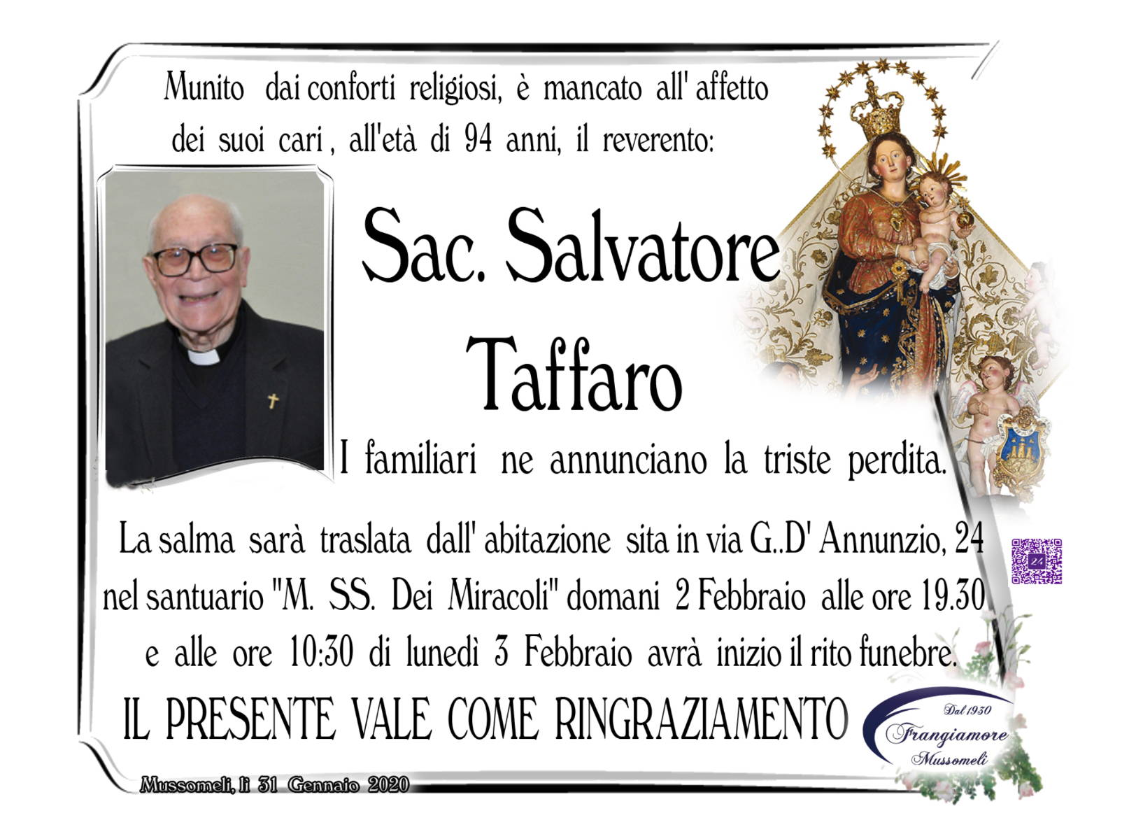 Sac. Salvatore Taffaro