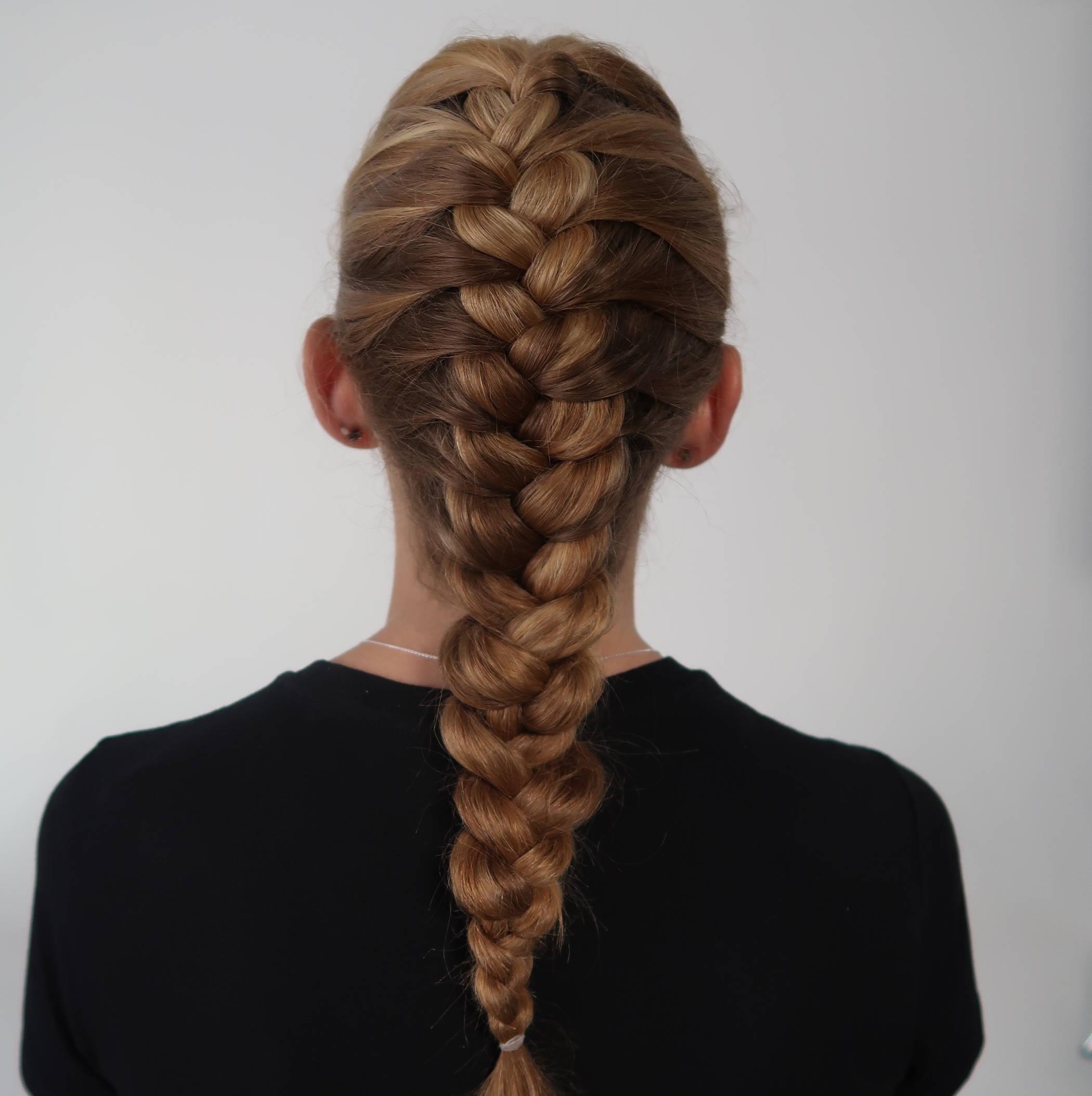 Davines dutch braid hair tutorial