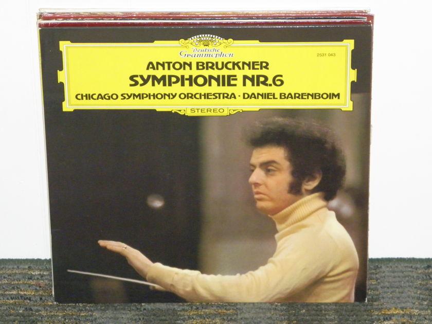 "Daniel Barenboim/Chicago Symphony - Bruckner ""Symphony No. 6"" DG 2531 043 German Pressing"