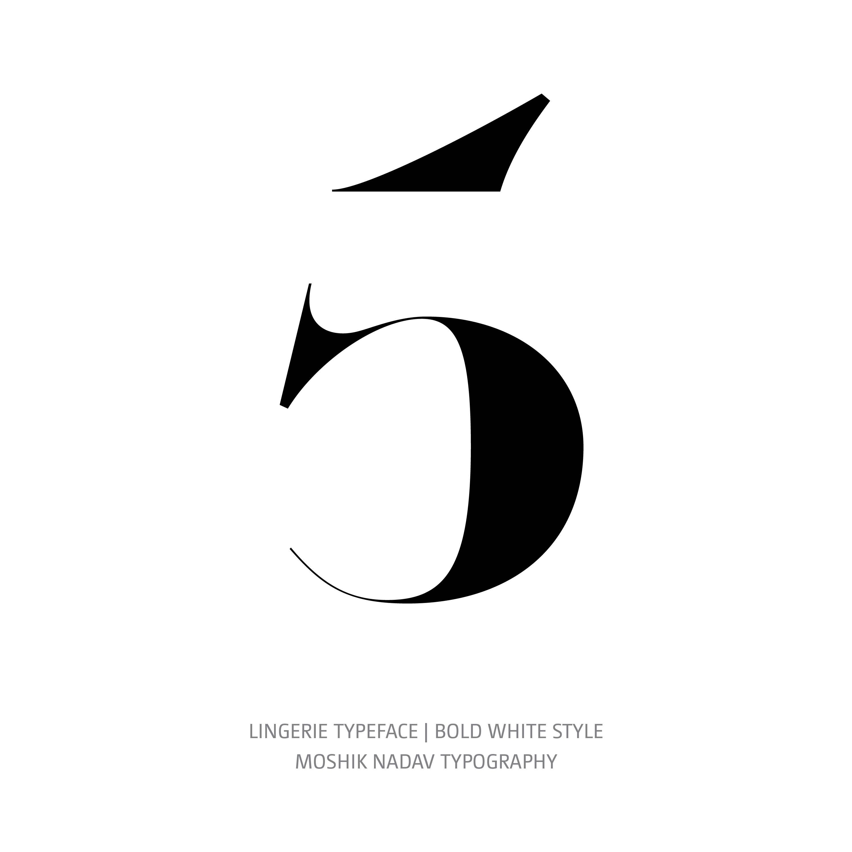 Lingerie Typeface Bold White 5