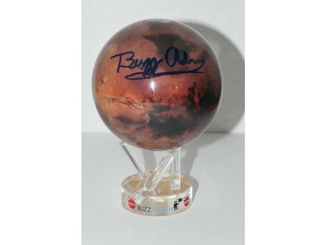 MARS MOVA GLOBE SIGNED BY BUZZ ALDRIN