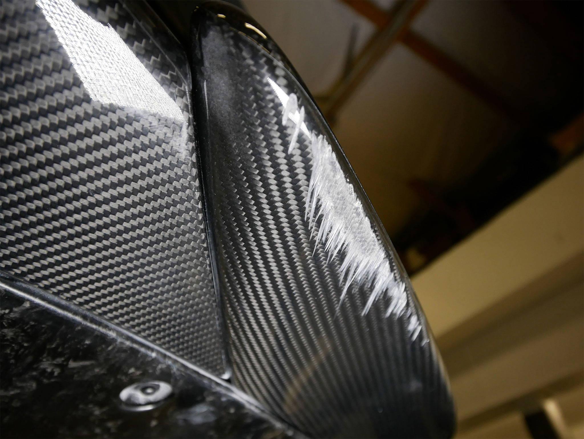 McLaren 600LT Bumper Damage