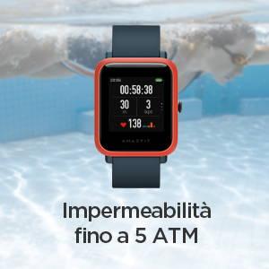 Amazfit Bip S - Impermeabilità fino a 5 ATM.