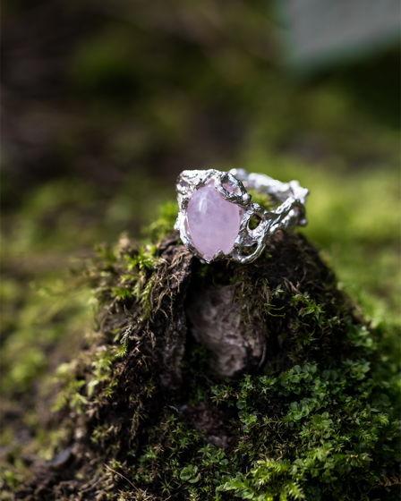 """Серебряное кольцо """"Цвет 2.0"""" с натуральным камнем"""