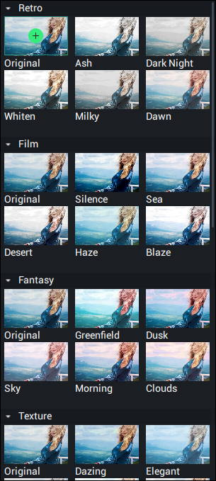 there are dozens of filters in Fotosifter