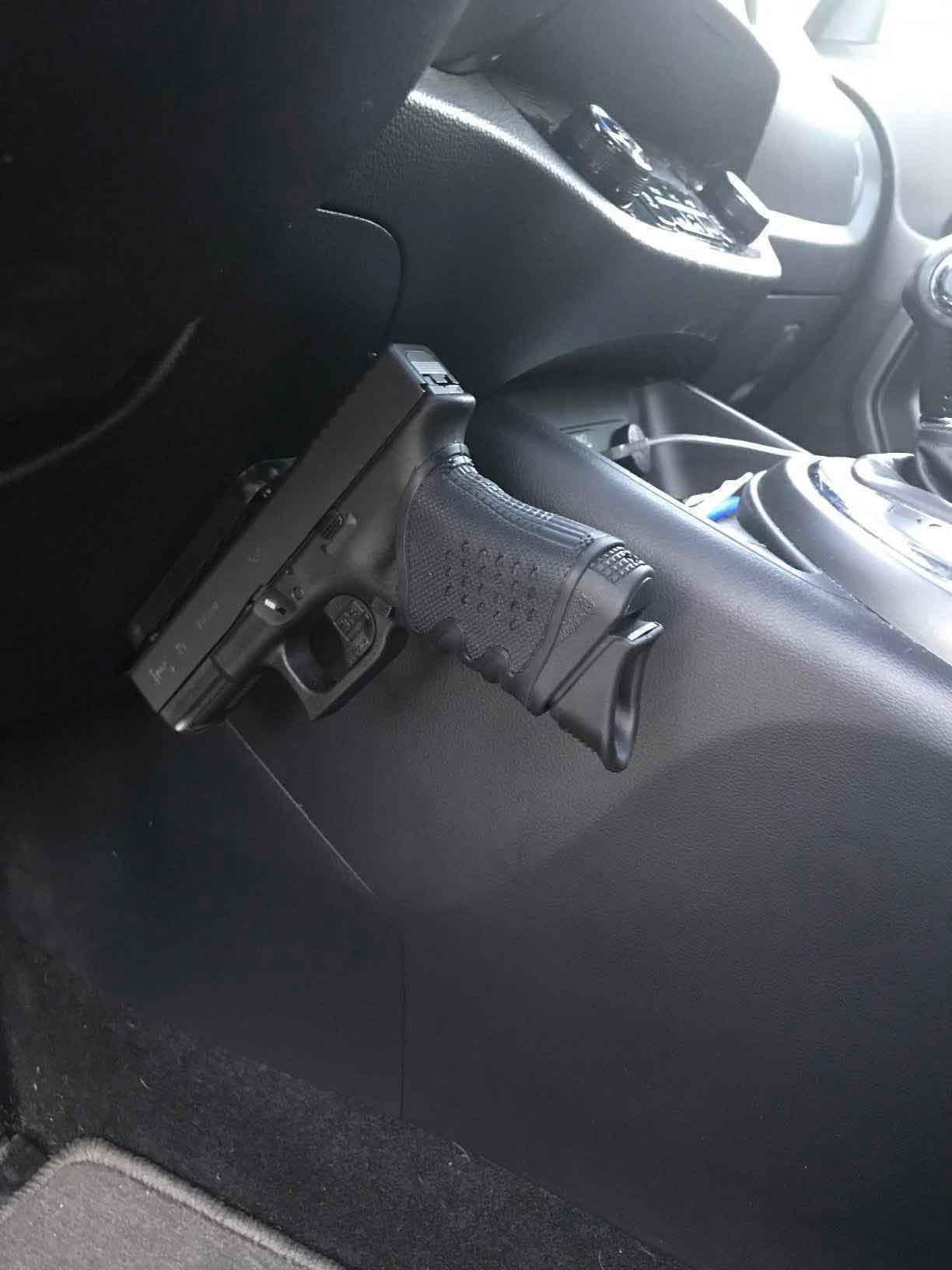 vehicle gun holster | magnetic mount gun for car