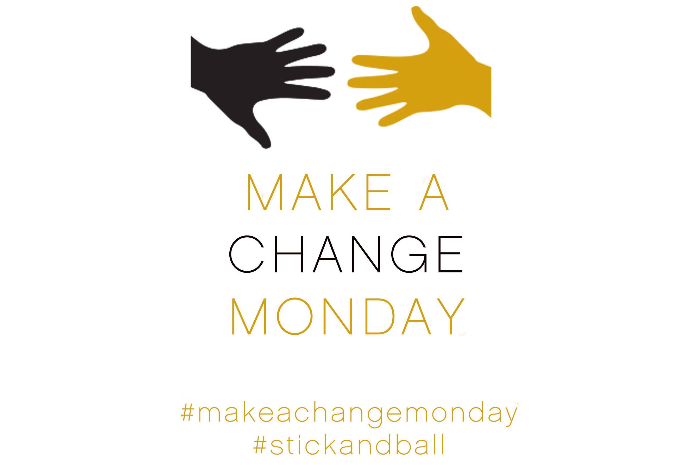 Logo for Make A Change Monday initiative by Stick & Ball