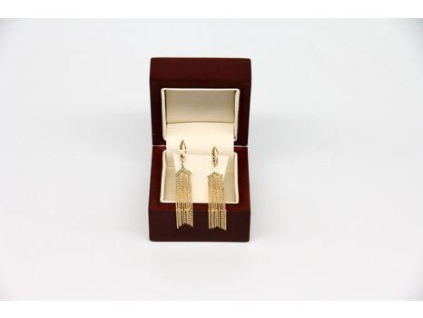 14k Yellow Gold Fringe Dangle Earrings