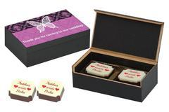 Wedding Return Gifts for Guests - 2 Chocolate Box - Printed Candies (10 Boxes)