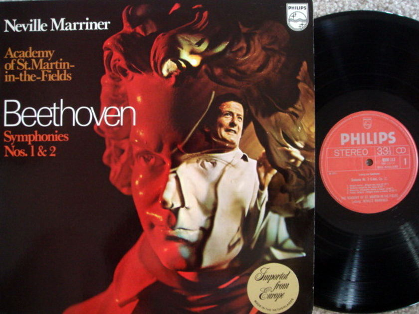 Philips / MARRINER, - Beethoven Symphonies No.1 & 2,  MINT!