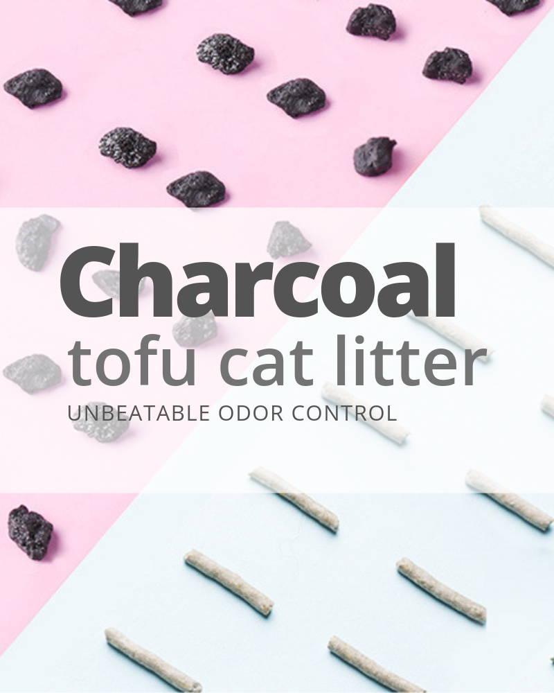 charcoal tofu cat litter
