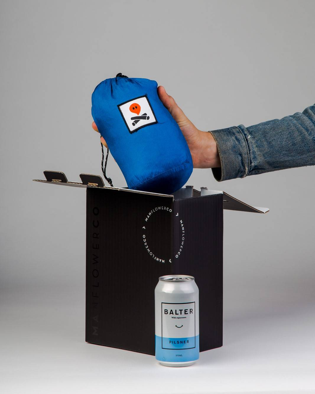 Hammock + Beer, part of Manflower Co's range of holiday gifts for men.