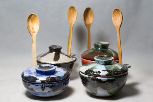 Мисо-супницы с деревянной ложкой