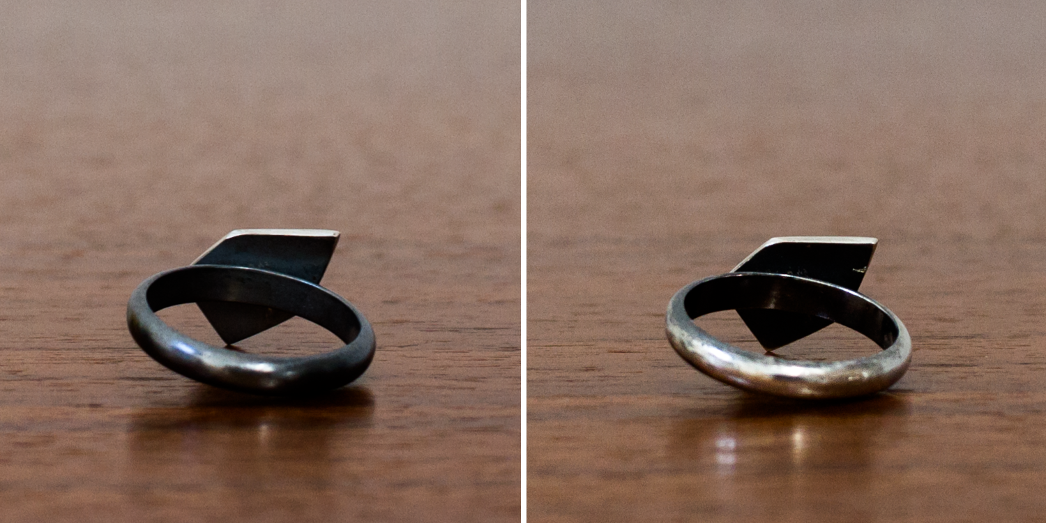 Oxidized silver ring wear after 30 days