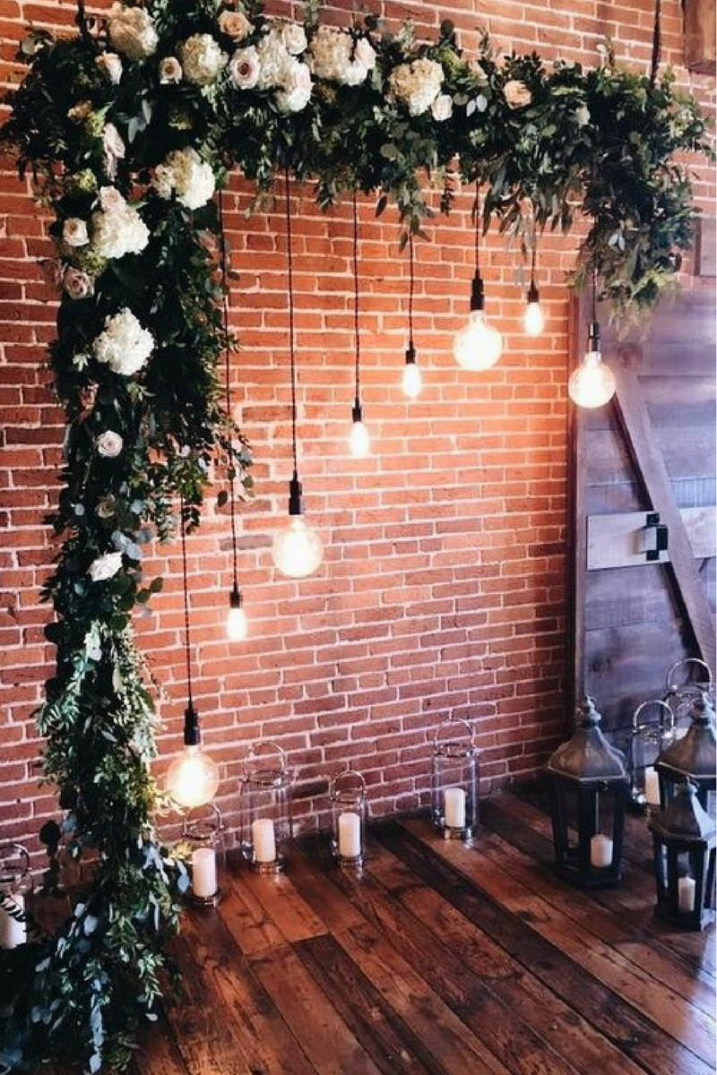 diy wedding lighting cheap wedding hanging lights off an archway adds romantic touch my wedding guides blog 21 stunning examples of lighting decor that you can diy