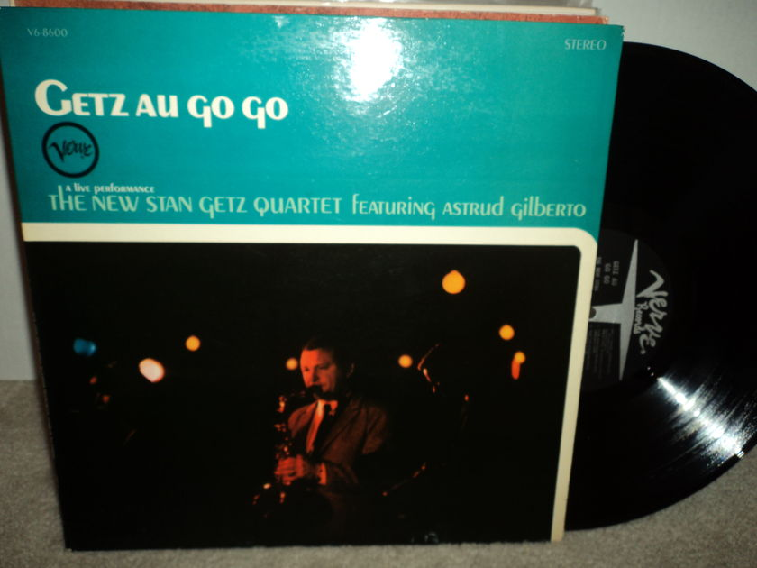 Getz Au Go Go / Astrud Gilberto - The New Stan Getz Quartet featuring Astrud Gilberto Gatefold  Verve Stereo V6 - 8600   NM