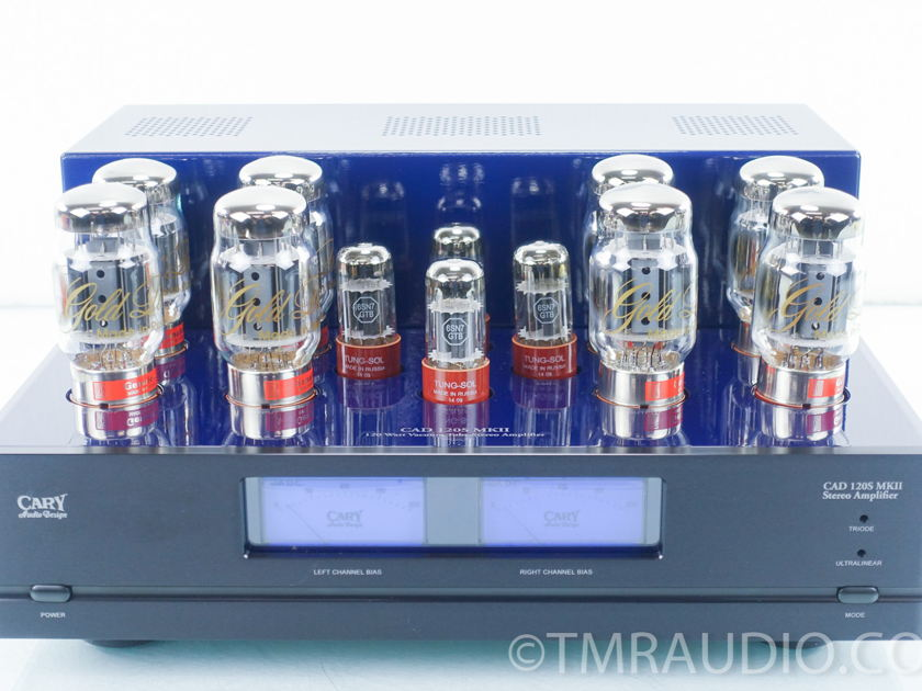 Cary  CAD-120S MKII Stereo Tube Power Amplifier; Cobalt Blue (9431)