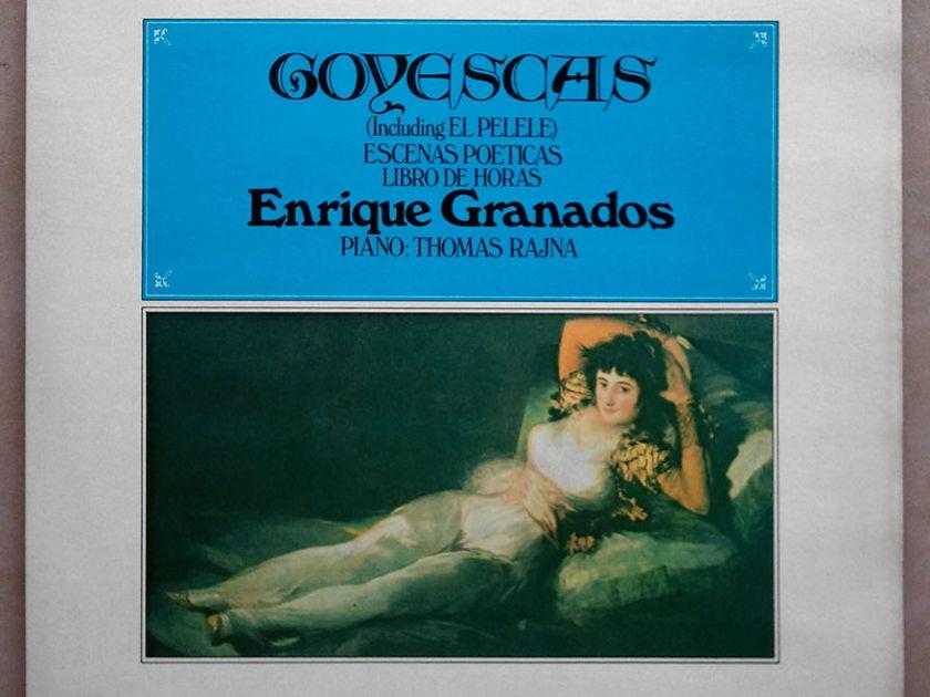 UK CRD | THOMAS RAJNA/GRANADOS - Goyescas, Escenas Poeticas, Libro de horas / 2-LP / NM