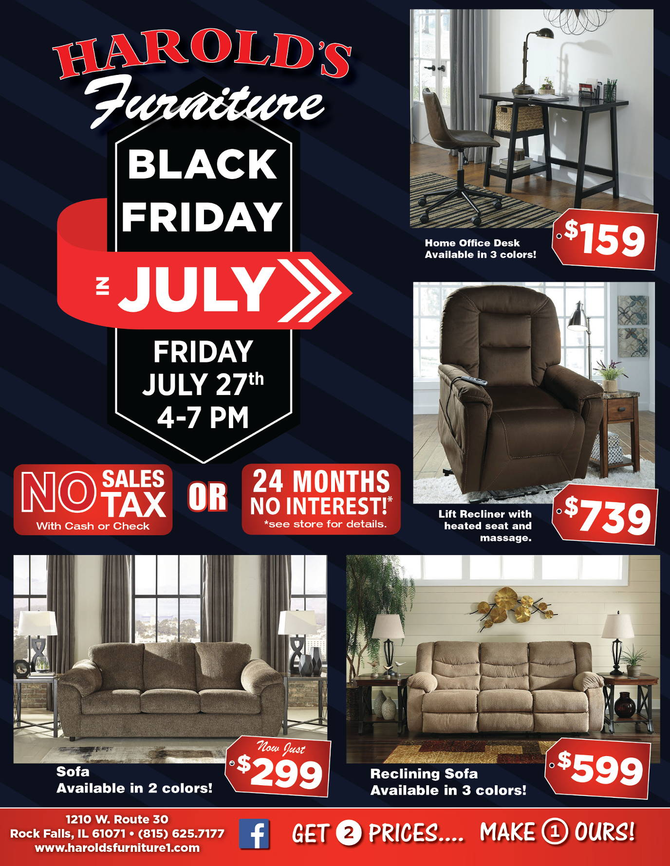 Black Friday Sale Flyer Harolds Furniture