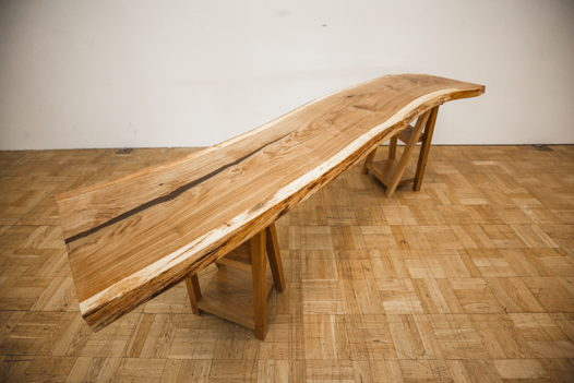 Рабочий стол-верстак из массива дуба