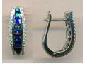 Jewel Joy Diamond & Blue Sapphire Huggie Earrings