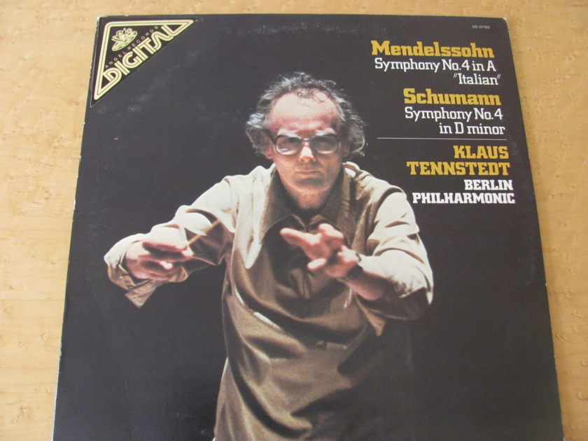 Mendelssohn: Symphony No. 4 & Schumann: Symphony No. 4,  - Angel Records, Klaus Tennstadt, Berlin Harmonic, NM