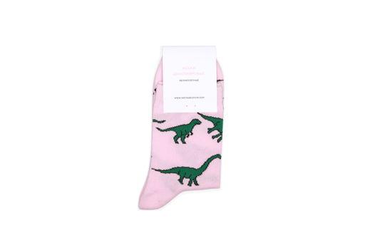 Носки динозавровые розовые