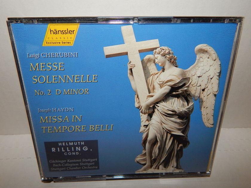 HELLMUTH RILLING Conductor - CHERUBINI Messe Solennelle HAYDN Missa In Tempore  Stuttgart Chamber Germany DDD 2 CD
