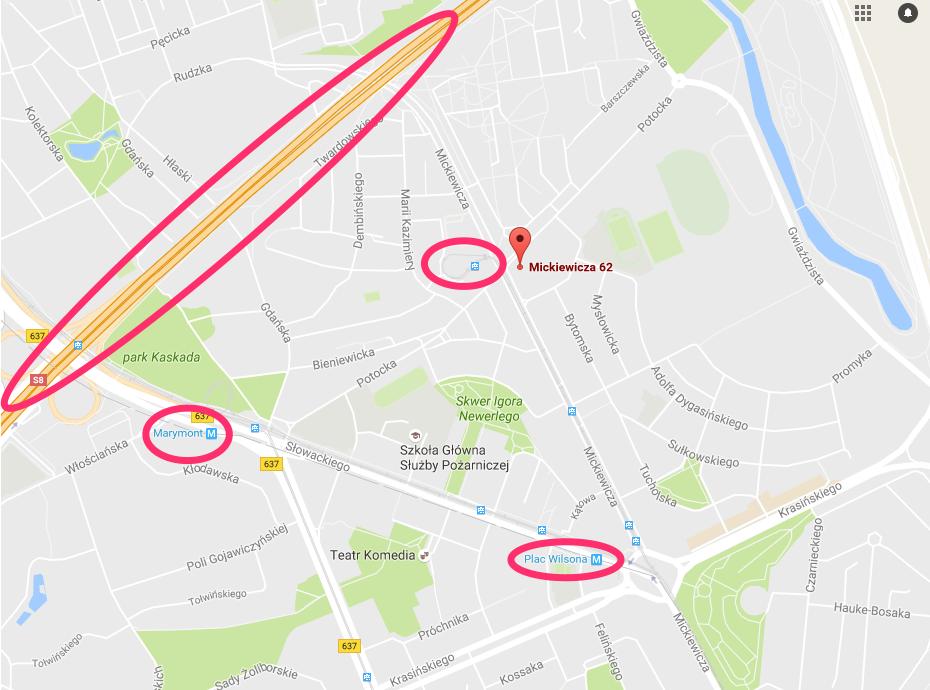 Evojam location map