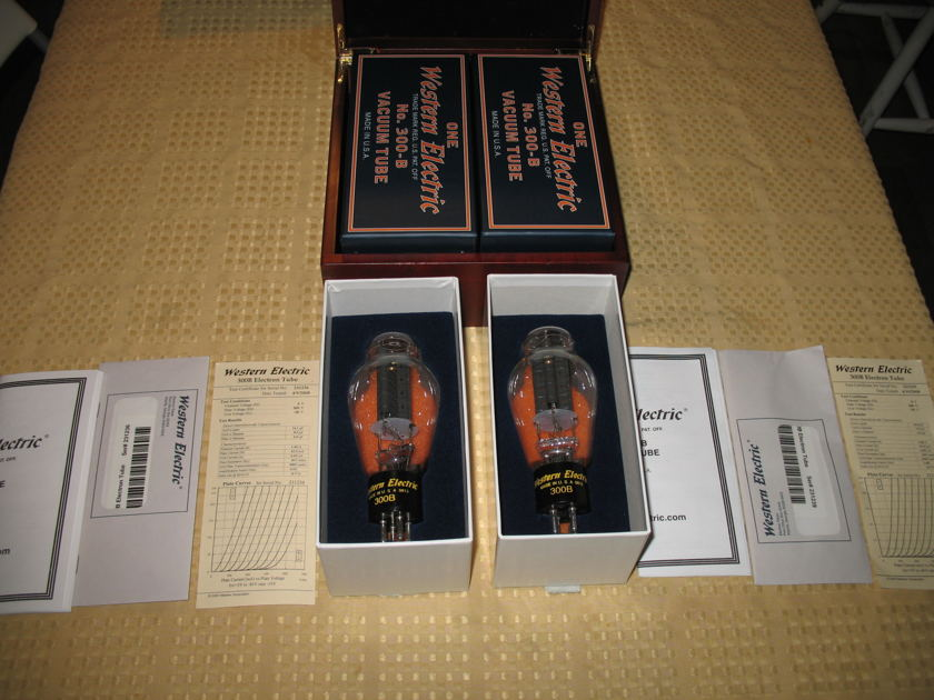 Western Electric 300B Reissued Matched Pair Low Hours with Box!!
