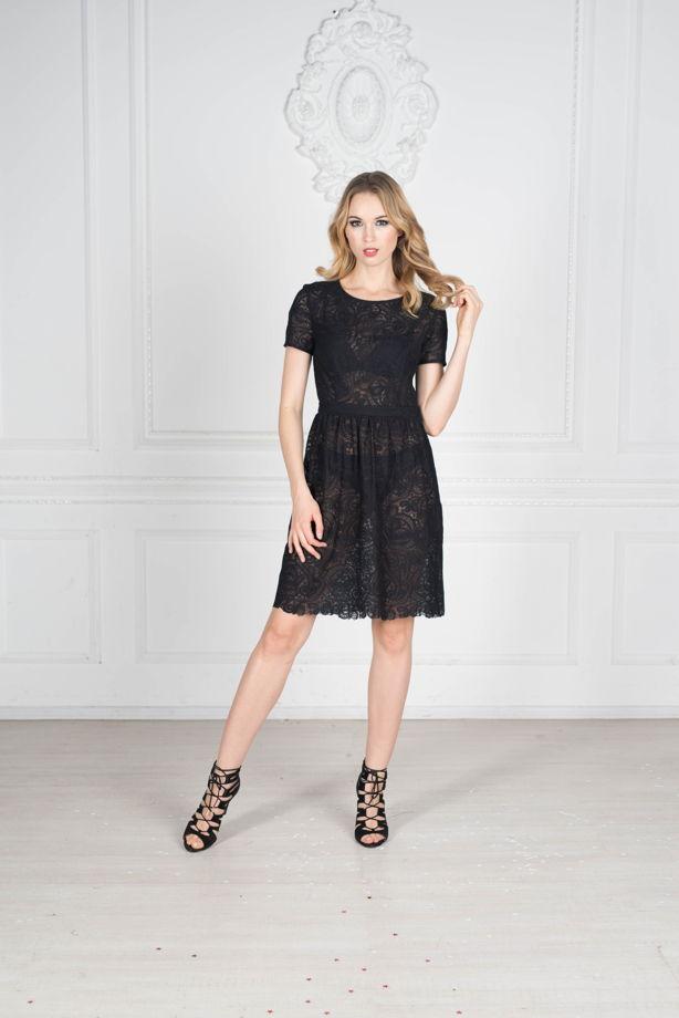 Черное кружевное короткое платье в магазине «Littleblack» на Ламбада ... a43058b0b14