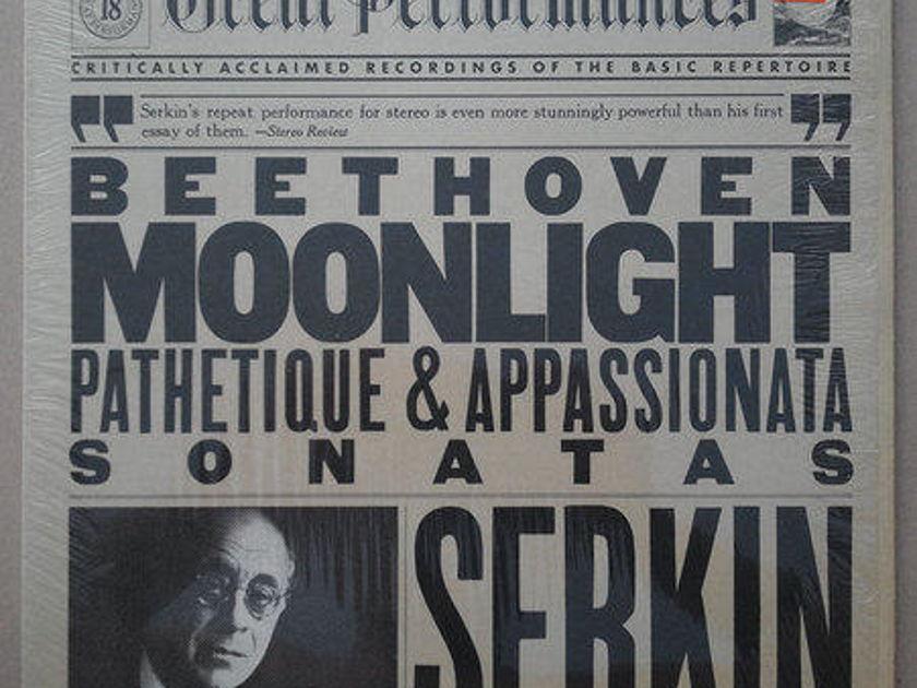 CBS/Serkin/Beethoven Sonatas : - Moonlight, Pathetique, Appassionata / NM