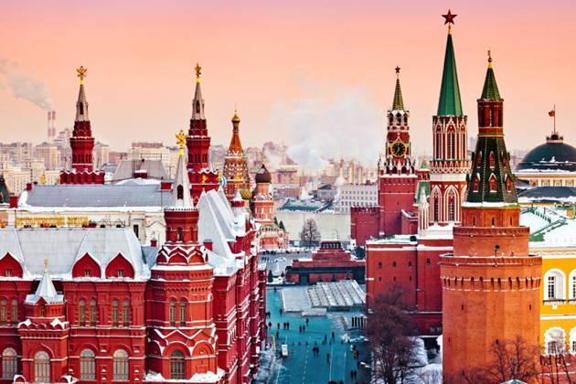 Новогодняя обзорная автобусная экскурсия по Москве!