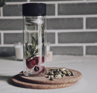 Стеклянная Бутылочка с двойным стеклом для чая и кофе