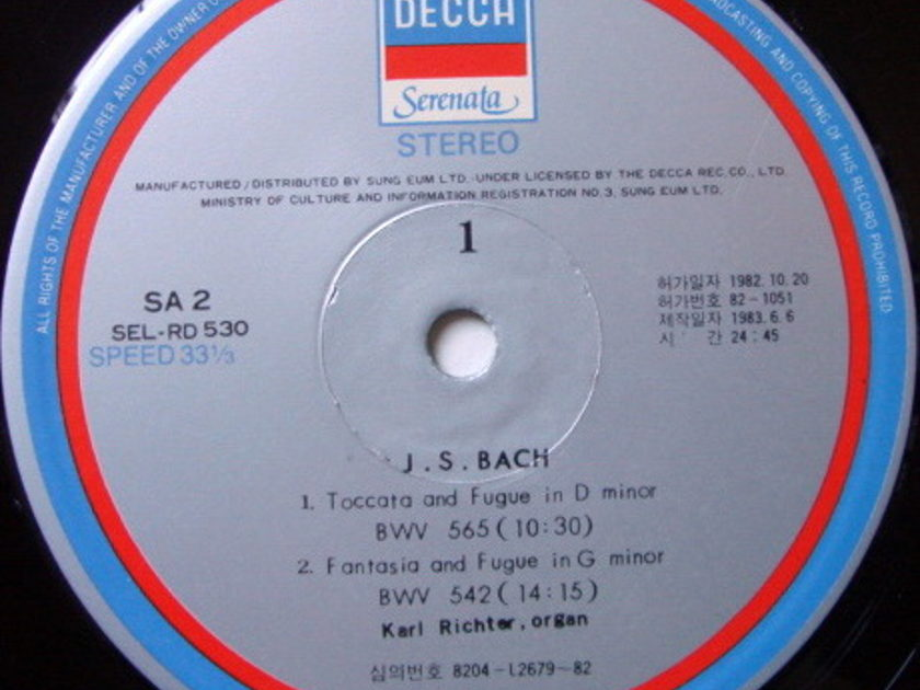 DECCA Serenata / KARL RICHTER, - Bach Toccata & Fugue, NM!