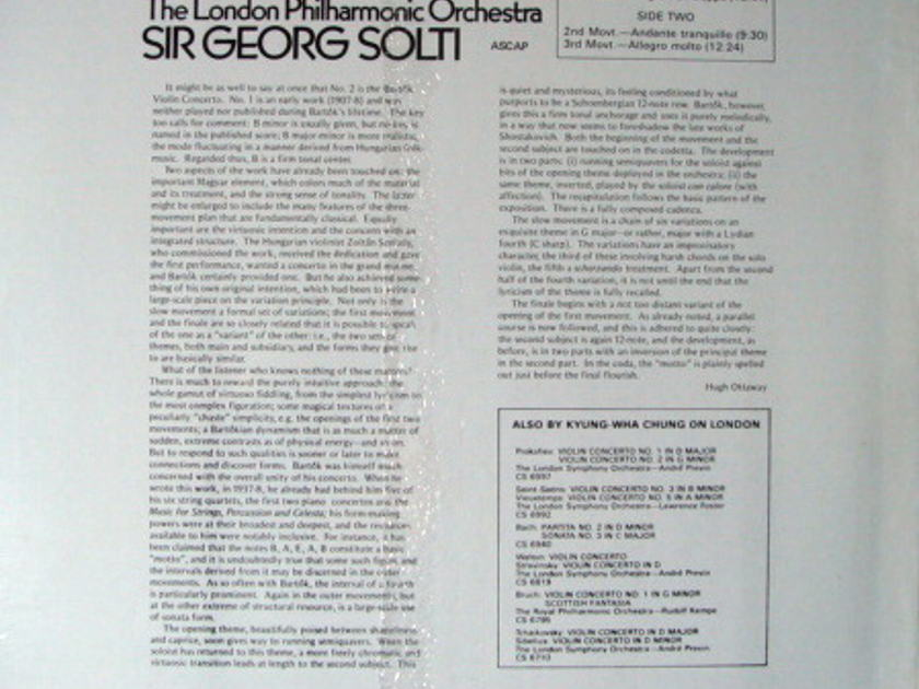 ★Sealed★ London-Decca / - K H CHUNG-SOLTI, Bartok Violin Concerto No.2!