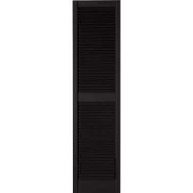 STANDARD LOUVERED SHUTTERS-BLACK