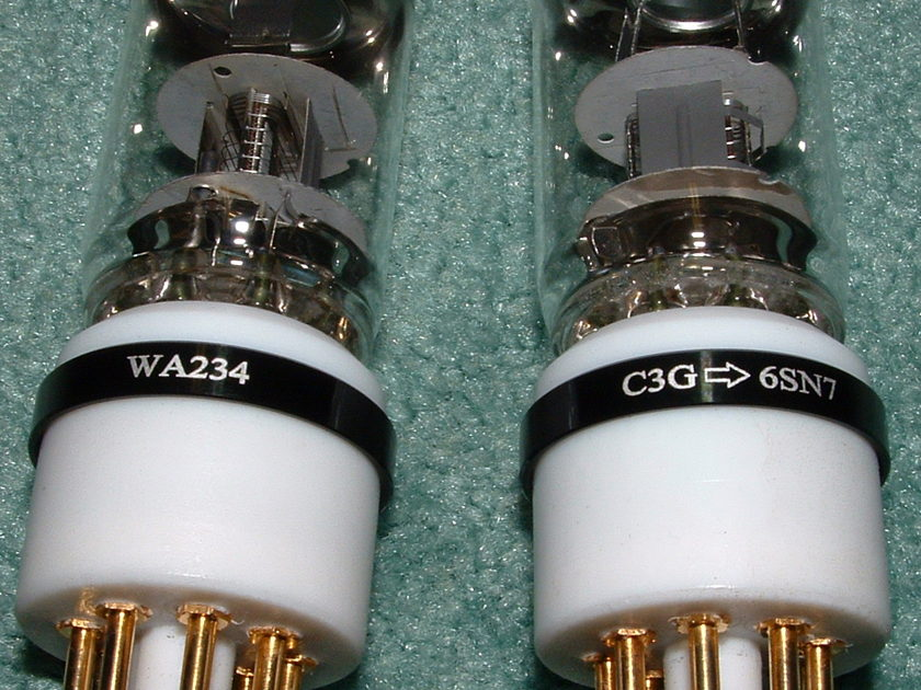 Siemens C3G Tubes with  Woo Audio WA-234 C3G to 6SN7 Adapters Matched Pair (Works with WA5 also)