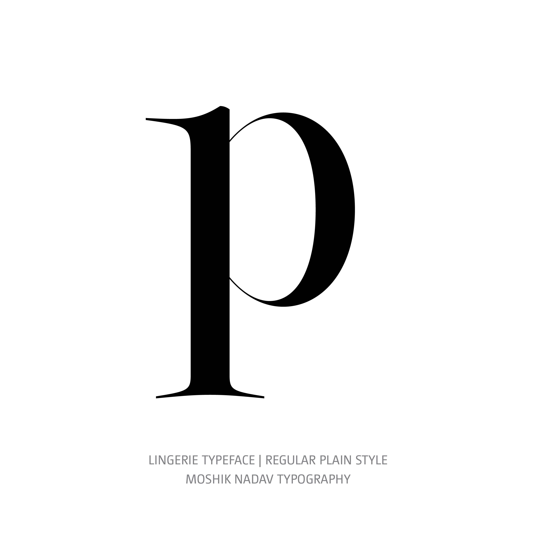 Lingerie Typeface Regular Plain p
