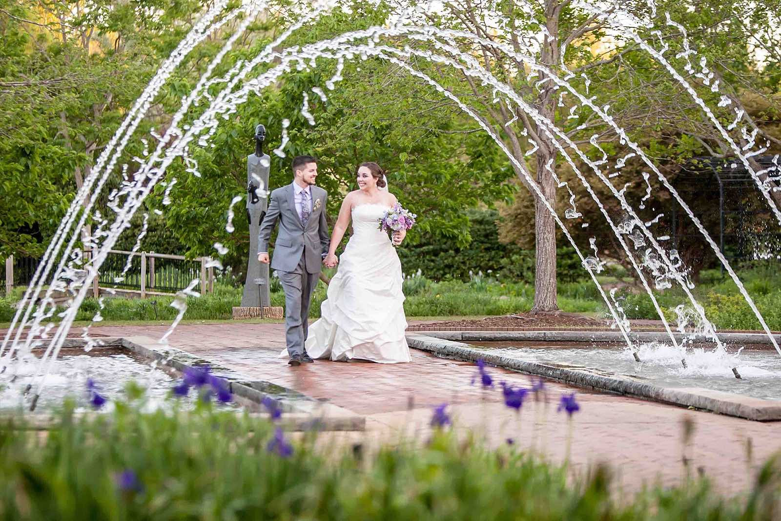 Nothing but smiles in this lavender garden wedding