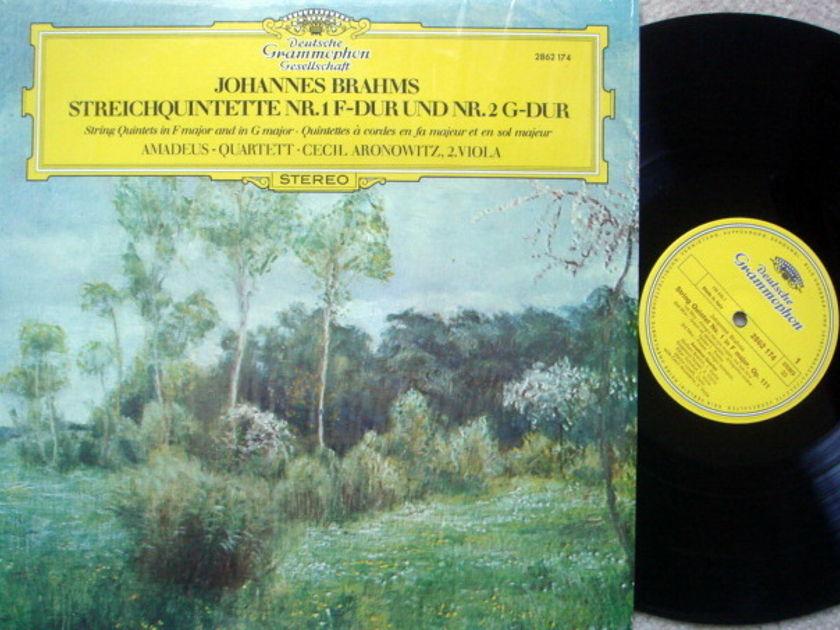 DGG / Brahms String Quintets No.1 & 2, - AMADEUS QUARTET, MINT!
