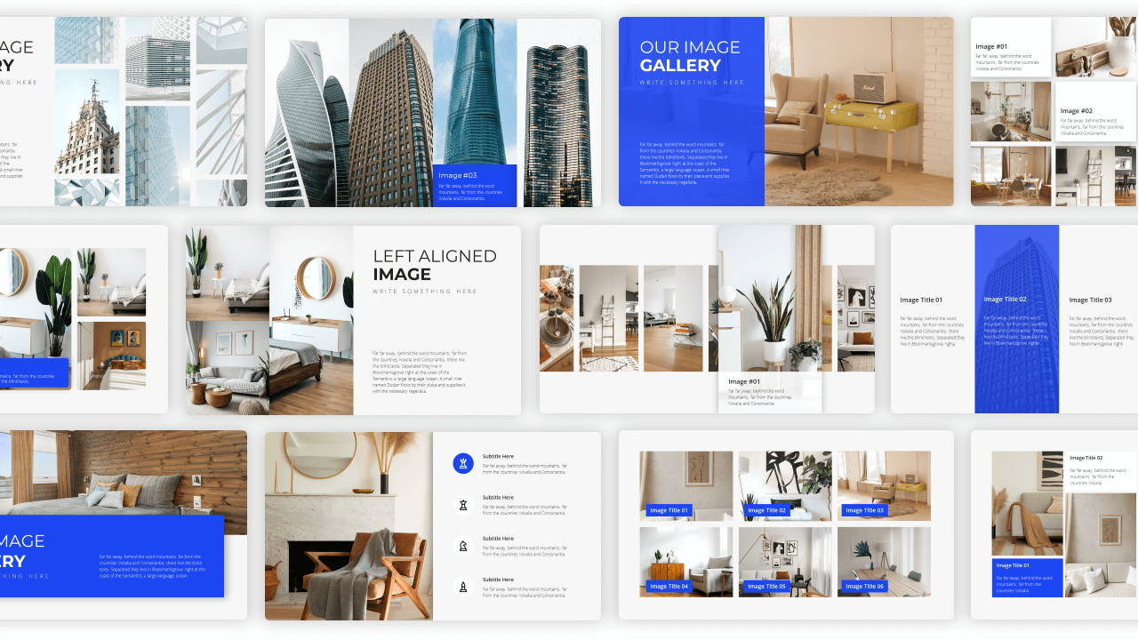 image gallery presentation template, portfolio presentation template