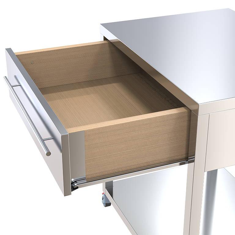 keukentrolley met geopende lade