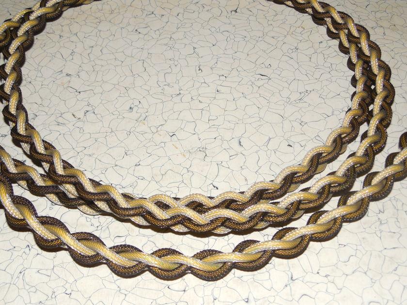 2 Meter Black Shadow Power Cord Braided  2 Meter Black Shadow Power Cord