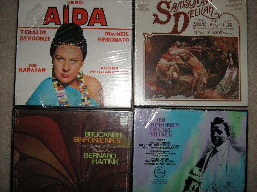 Verdi - Aida and others Sealed four box sets - 11 lps