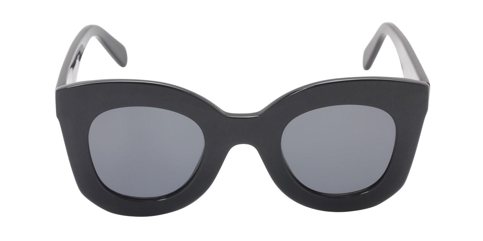 CELINE WOMEN'S CL41093S BLACK  GRAY LENS SUNGLASSES