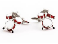 Red Drumset Cufflinks